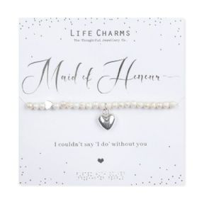 Life Charms Will You Be My Maid Of Honour Silver Plated Bracelet